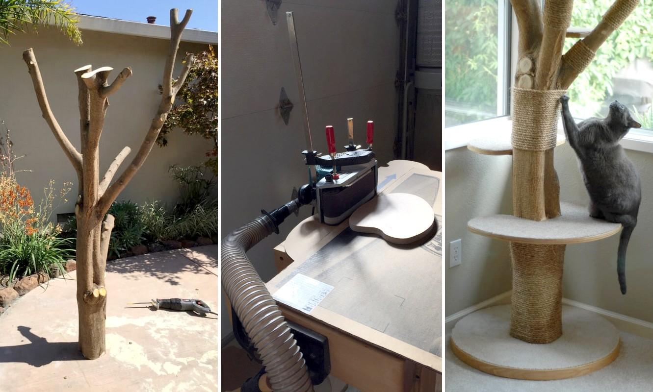 Így lesz korhadt fából macskajátszótér egyszerűen