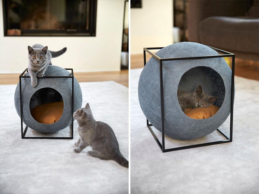 Dizájnos macskakuckó, ami még a lakást is feldobja