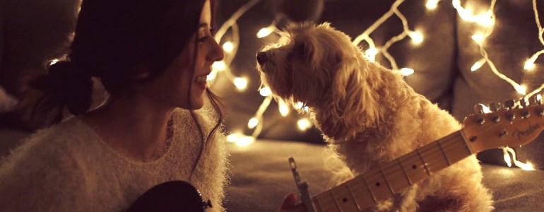 Azonnal karácsonyi hangulatba kerülsz az angyalhangú lánytól és imádnivaló kutyusától