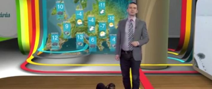 Tacskó zavarta meg az RTL Klub híradóját