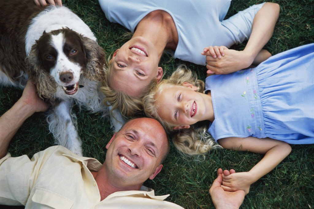 Family Lying on Grass ca. 2002