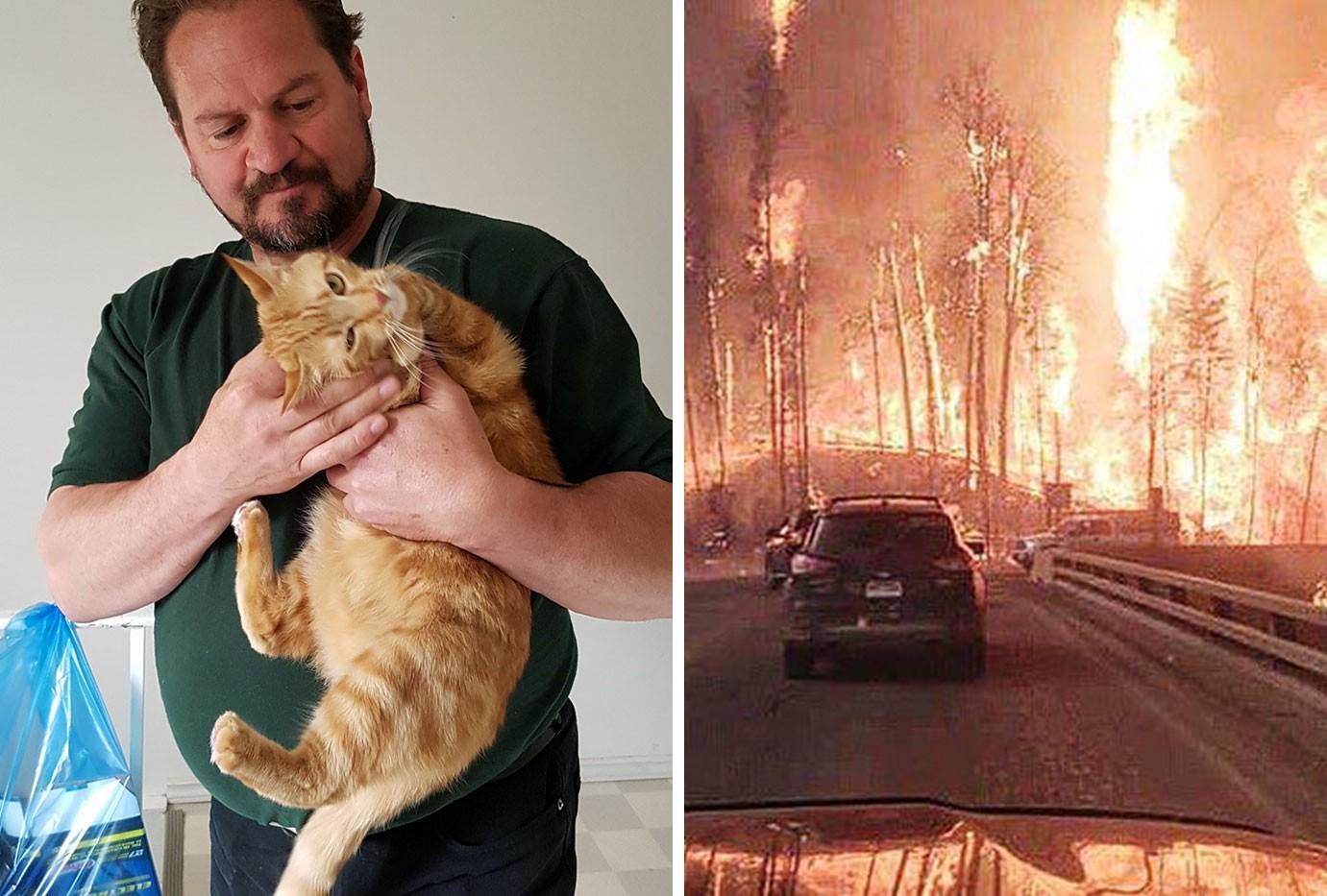 Saját életét kockáztatta, hogy a tűzvészben hátrahagyott állatokról gondoskodjon