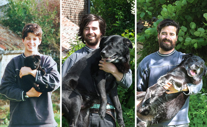 Megható fotókkal búcsúzott kutyusától ez a srác