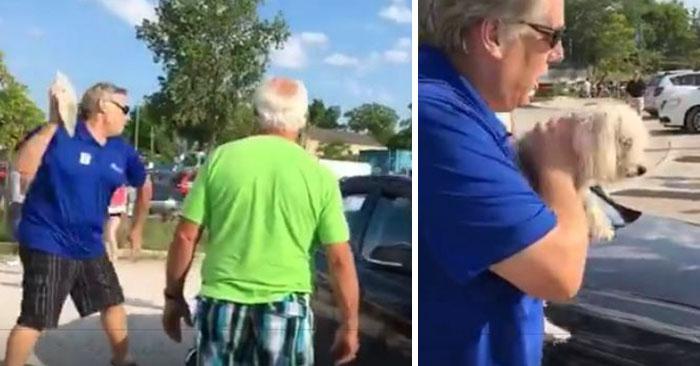 Kővel zúzta be a BMW ablakát, hogy kimenekítse a forróságtól szédelgő kutyát