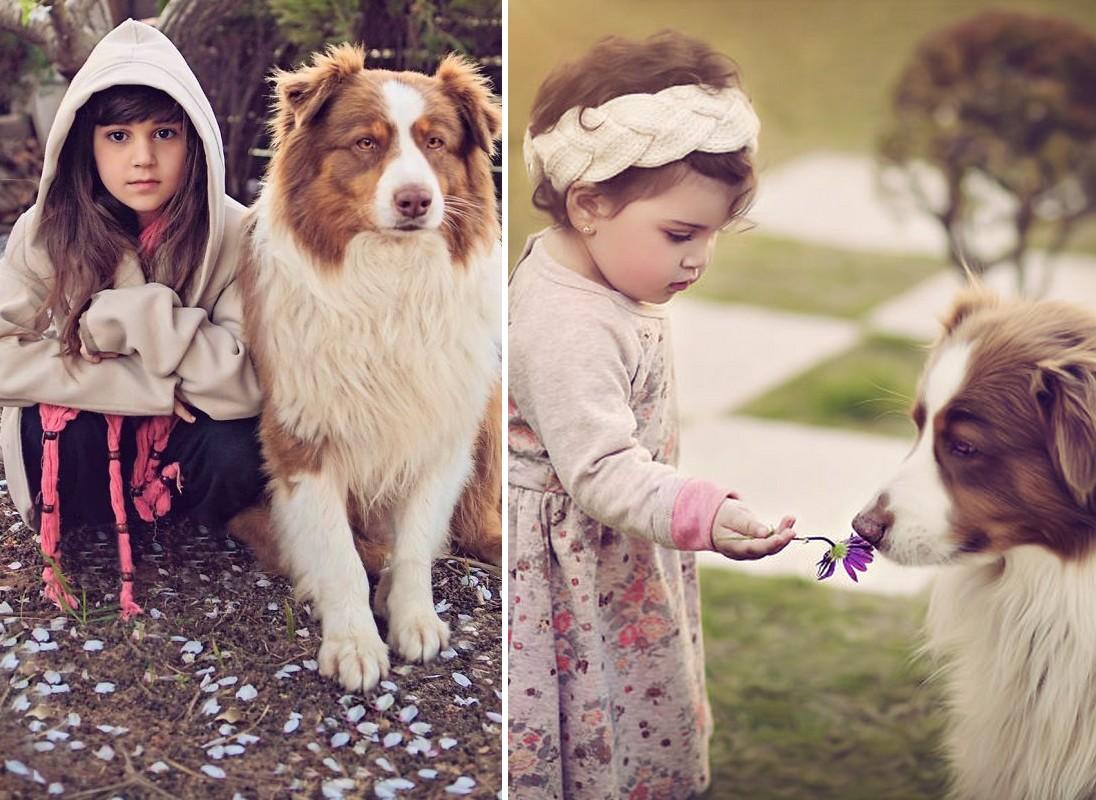 Fotós gazdájának segít a kutyus, aki egyszerűen imádja a gyerekeket