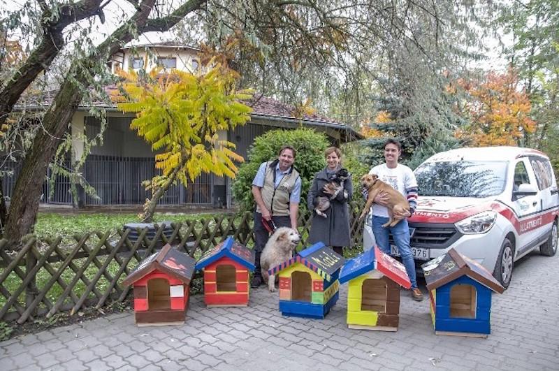 Kutyaházakat adományozott a Praktiker