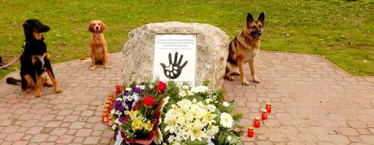 Emlékhelyet állítottak a bántalmazott állatoknak Újpesten